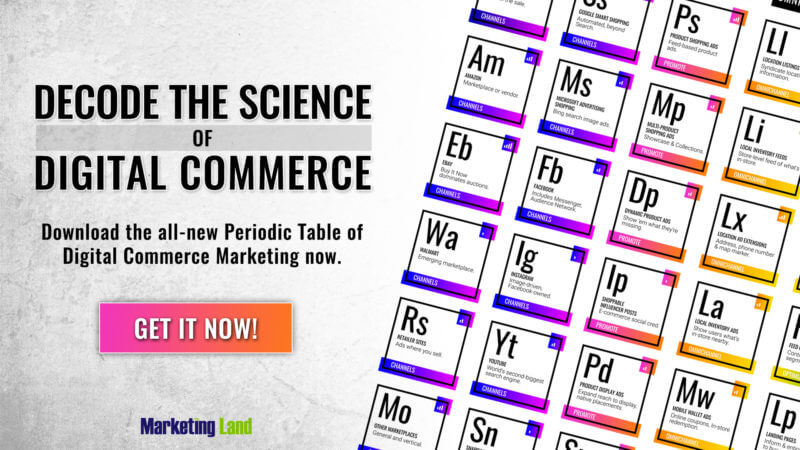 Introducing the Periodic Table of Digital Commerce Marketing